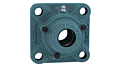 Set Screw Locking Four-Bolt Flange Unit With Open Cover, CUCF200C Series