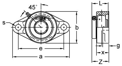 UEFB208-24NPMZ20RF AMI 1-1//2 KANIGEN ACCU-LOC RF NICKEL 3-BOLT FLANGE BRACKET