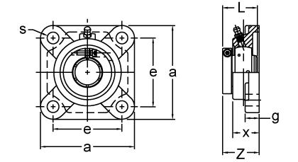 UEFX09-27 AMI 1-11//16 MEDIUM ACCU-LOC 4-BOLT FLANGE