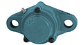 Set Screw Locking Two-Bolt Flange Unit With Closed Cover, CUCFL200CE Series